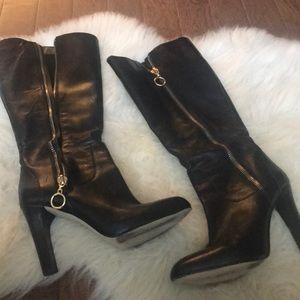 I.N.C black leather boots